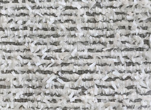 Decorative semi-flexible woven textiles pattern