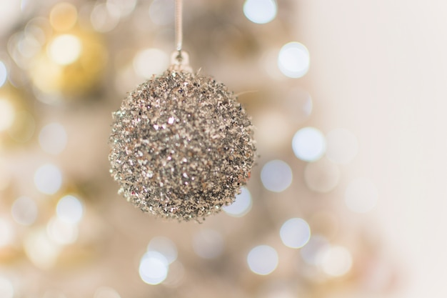 Decorative silver toy bauble