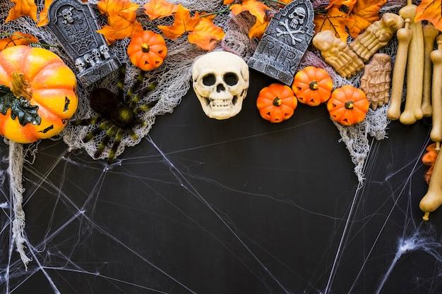 Decorative spooky halloween background
