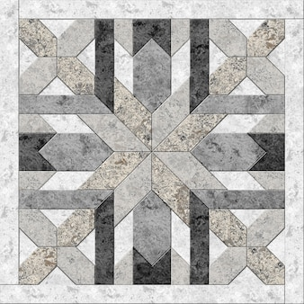 Decorative stone tiles. geometric pattern from natural marble. element for interior design. background texture