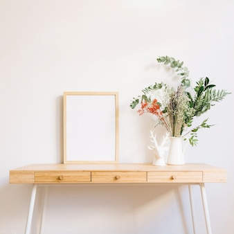 Decorative table with frame
