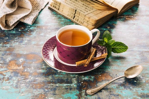 Decorative tea still life
