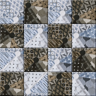 Декоративная плитка для интерьера. цветная керамическая мозаика с рисунком. фоновая текстура. элемент дизайна