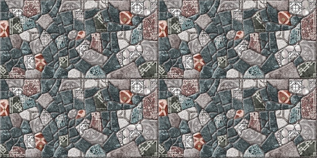 Decorative tiles with natural stone texture. , facades and floors. stone background texture with pattern.