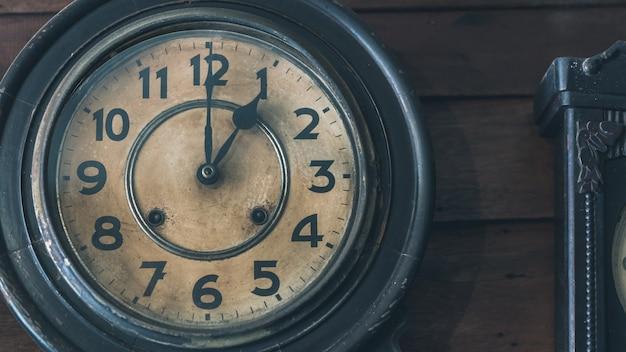 Decorative vintage wall clock