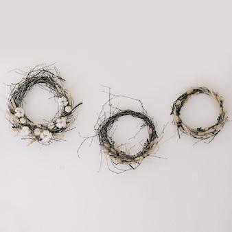 Декоративные венки на стену в стиле бохо или рустик