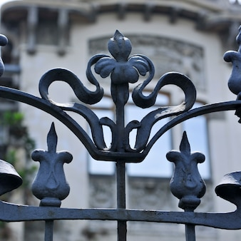 Decorative wrought iron fence in san jose
