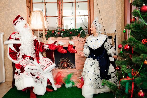 デッドモロスの父フロストとスネグーラチカの雪の乙女。