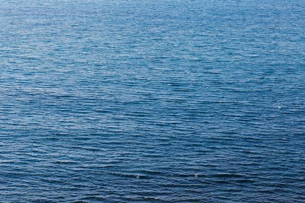 Deep blue water sea texture.