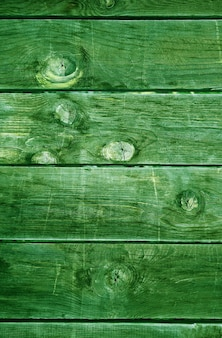 Deep forest green colored horizontal pattern grunge wooden wall for background
