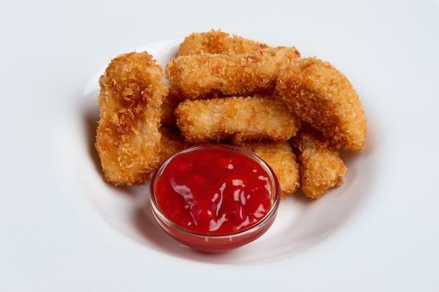 Deep fried chicken nuggets