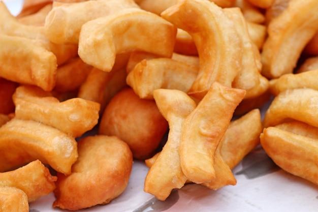 Deep-fried dough stick at market