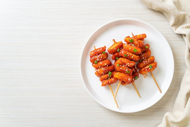 매콤한 양념 꼬치 튀김-한식
