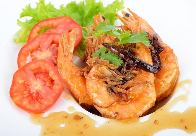 Deep fried shrimp with tamarind sauce