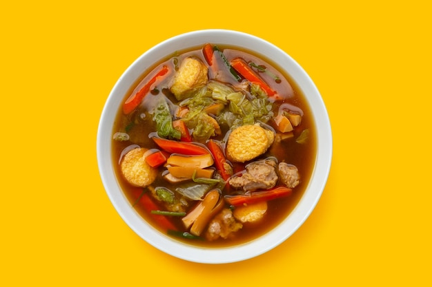 豆腐のグレービーソース炒め