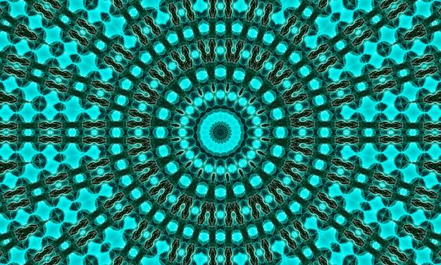 深い腎炎の花。腎炎の色合いの幾何学的要素の抽象的なトレンディな装飾的なシームレスパターン。翡翠の幾何学的形状。