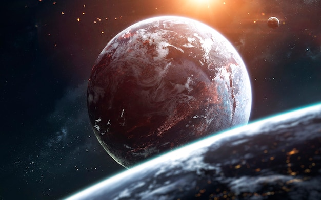 Глубокий космос, красота бескрайнего космоса. научно-фантастические обои. элементы этого изображения, предоставленные наса