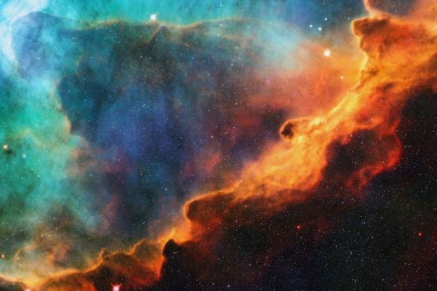 Deep stellar space with colored nebulae, galaxies and constellations. space wallpaper