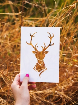 Deer frame nature freedom place