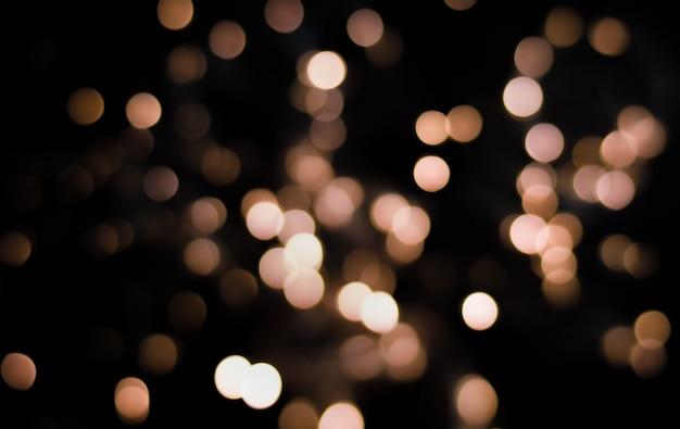 Defocus lights on black background