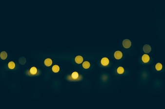 Defocused bokeh lights at night