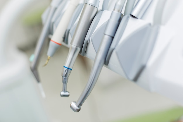Defocused close-up of dental equipment