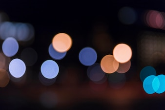Defocused colorful bokeh lights background