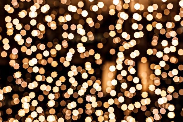 Defocused gold circle in technique bokeh Premium Photo