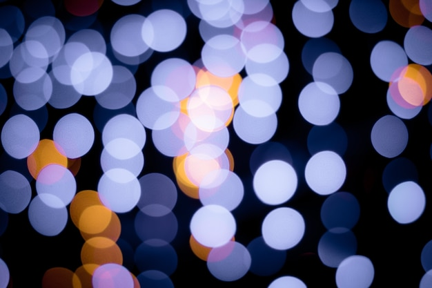 Defocused ligths of christmas tree background