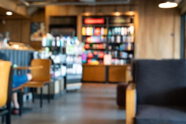 Расфокусированный или размытый интерьер ресторана и кафе для фона