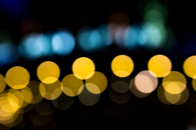 Defocused real bokeh for abstract background