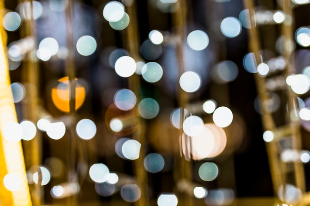 Defocused scattered bokeh dots background