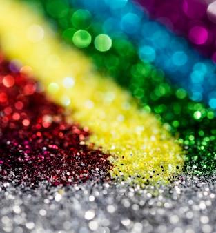 Scintillio scintillante sfocato dell'arcobaleno