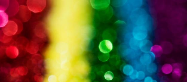 Glitter arcobaleno lucido sfocato