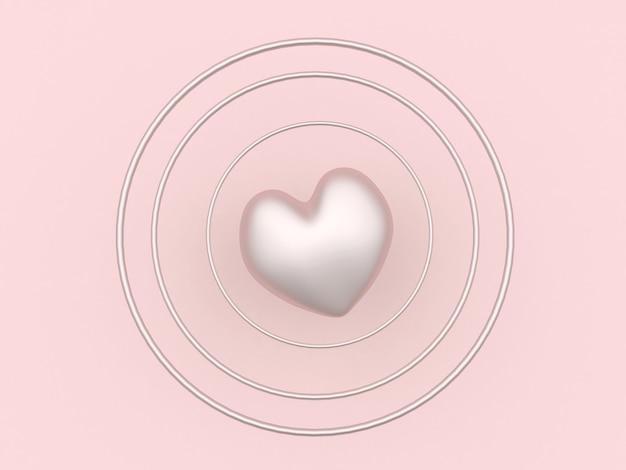 Delicate heart in circles