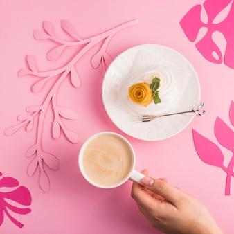 Delicate light low-calorie natural dessert from meringue