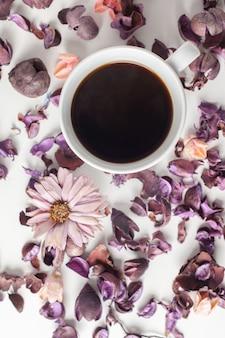 Delicate morning tea table setting