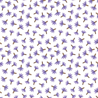Delicate pressed floral watercolor seamless patterns and dried flower arrangements are placed on natural backgrounds