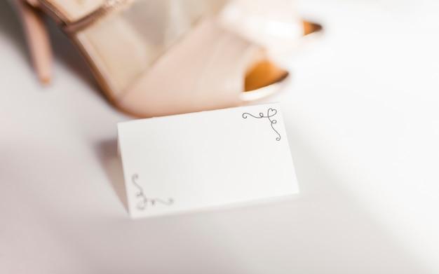 Delicate wedding card