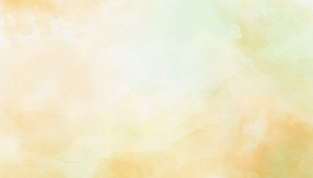Delicate yellow abstract watercolor background