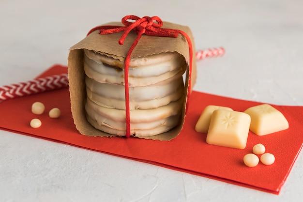 Delizioso concetto di biscotto alfajores