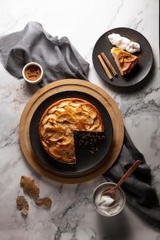 Delicious apple pie assortment