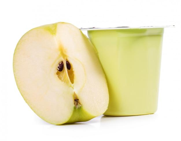 Delicious apple yoghurt