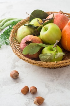 Delicious apples in basket