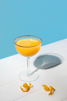 Delicious aromatic cocktail ready to be served