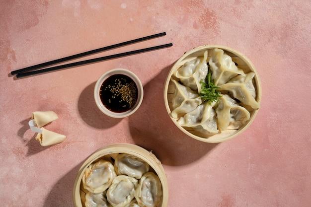 맛있는 아시아 음식 준비