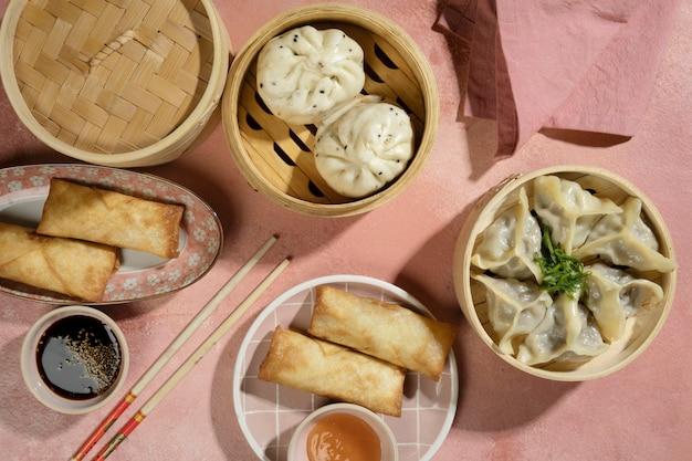 Delicious asian food arrangement