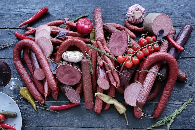 Delicious assortment of meat