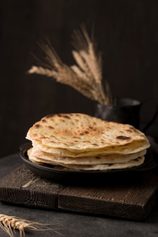 Delicious assortment of nutritious roti