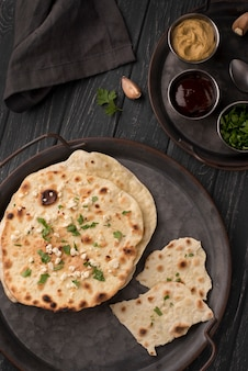 Delicious assortment of traditional roti